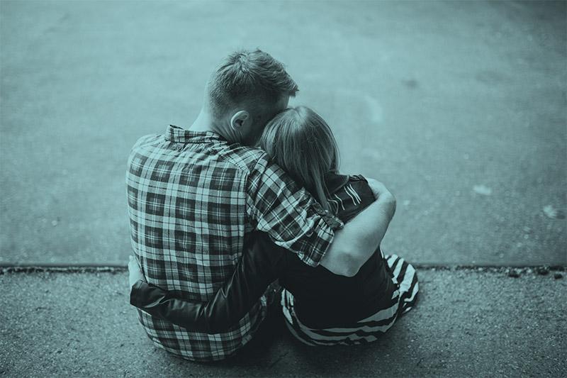 Liefdevolle knuffel